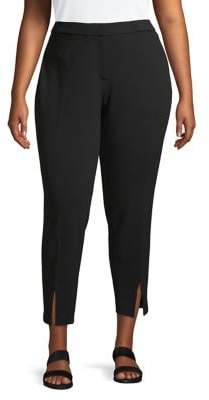 Calvin Klein Plus Cropped Front-Slit Pants