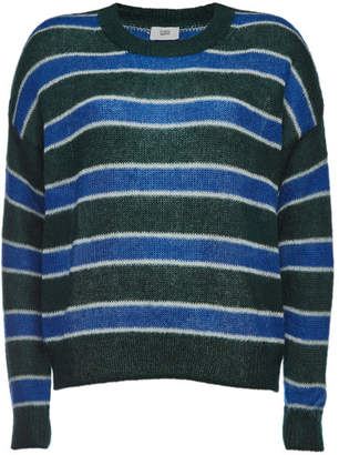Closed Striped Pullover with Mohair and Wool