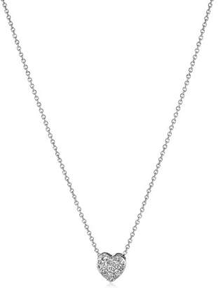 """Roberto Coin Tiny Treasures"""" 18k Gold and Diamond Puffed Heart Pendant Necklace (1/10cttw"""