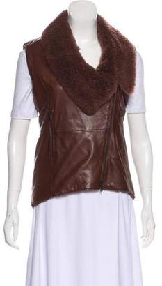 Brunello Cucinelli Zip-Up Leather Vest w/ Tags