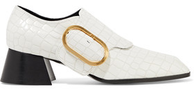 Stella McCartney Buckled Croc-Effect Faux Leather Pumps
