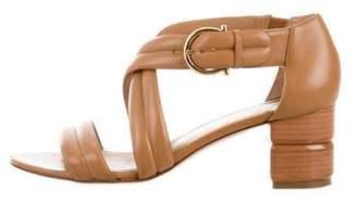 Salvatore Ferragamo Quilted Crossover Sandals
