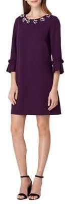 Tahari Arthur S. Levine Embellished-Neck Shift Dress