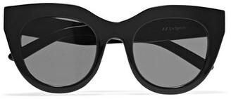 Le Specs - Air Heart Cat-eye Acetate Sunglasses - Black $70 thestylecure.com