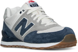 New Balance Men's 574 Retro Sport Casual Sneakers from Finish Line $79.99 thestylecure.com