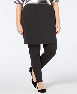 Eileen Fisher Plus Size Skirted Cozy Jersey Ankle Legging