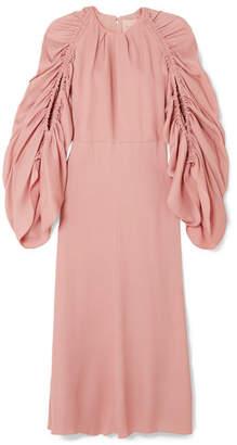 Roksanda Aruna Draped Piqué Midi Dress - Pink