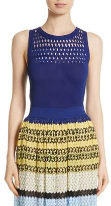 Missoni Cutout Knit Cotton Tank