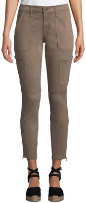 J Brand Jeans Zip-Cuff Patch Pocket Skinny Utility Jeans
