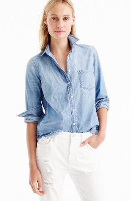 Women's J.crew Always Chambray Shirt $78 thestylecure.com