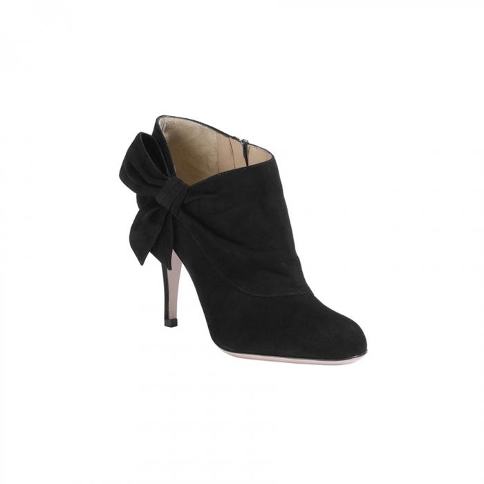 Valentino Garavani Black Suede Ankle Boots