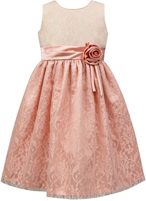 Jayne Copeland Two-Tone Glitter Lace Party Dress, Toddler and Little Girls (2T-6X) $74 thestylecure.com