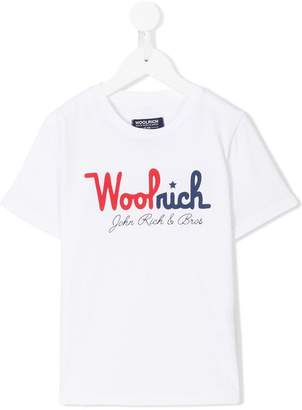 Woolrich Kids printed T-shirt