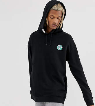 Puma Organic Cotton Hoodie With Back Print In Black Exclusive To ASOS