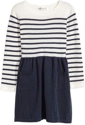 H&M Fine-knit Dress - Blue