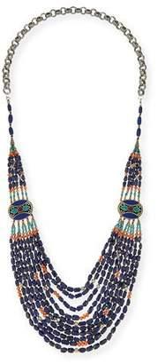 "Devon Leigh Long Multi-Strand Necklace, Blue, 42"""
