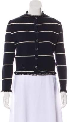 Givenchy Striped Button-Up Cardigan
