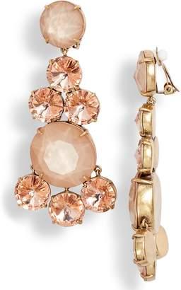 Tory Burch Circles Chandelier Clip Earrings