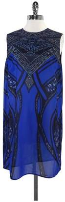 Gottex Cobalt Blue Print Cover Up Dress $288 thestylecure.com