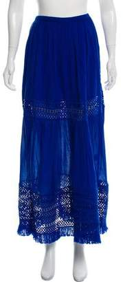 Ramy Brook Fringe Trim Maxi Skirt
