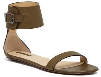 Longchamp 3D Flat Leather Sandal