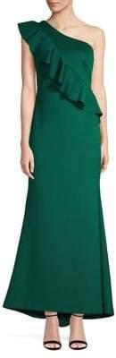 Eliza J One-Shoulder Sheath Gown