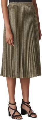 Whistles Sparkle Pleated Midi Skirt