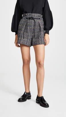 3.1 Phillip Lim Textured Tweed Shorts