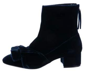 abstract bow ankle boots - Black N iftOogn