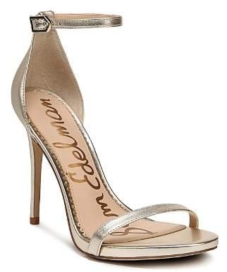 Sam Edelman Women's Ariella Leather High-Heel Ankle Strap Sandals