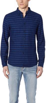 Levi's Indigo Stripe Button Down Shirt
