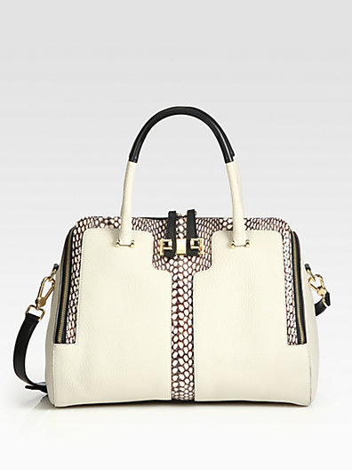 Saks Fifth Avenue Furla Exclusively for Mediterranea Snake-Print Leather Shopper