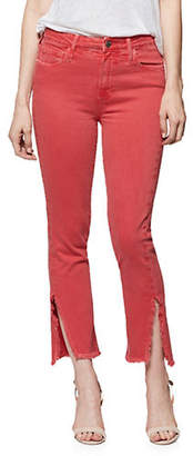 Paige Hoxton Straight Frayed Ankle Jeans