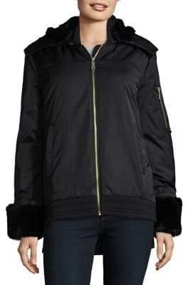 Sam Edelman Faux Fur Trim Pilot Coat
