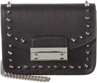 Furla Julia Mini Studded Leather Crossbody