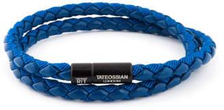 Tateossian Men's Braided Double-Wrap Bracelet, Size M