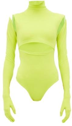 Vetements Gloved Stretch Jersey Bodysuit - Womens - Yellow