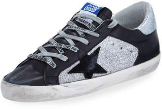 Golden Goose Superstar Glitter & Leather Low-Top Sneakers