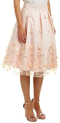 Eliza J Women's Embroidered Floral Midi Skirt