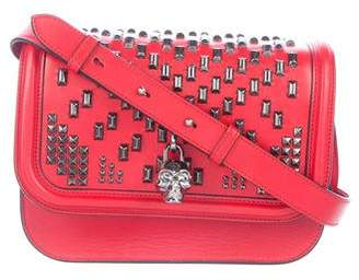 Alexander McQueen Stud Embellished Leather Crossbody Bag