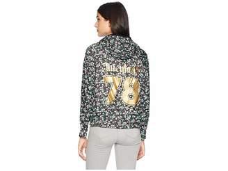 Juicy Couture Hard Woven Juicy Land Floral Packable Nylon Jacket Women's Coat