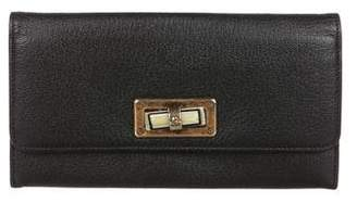 Lanvin Leather Continental Wallet