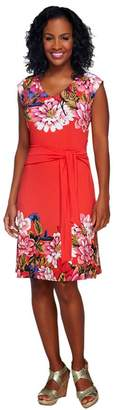 Isaac Mizrahi Live! Sleeveless Floral Printed Knit Dress