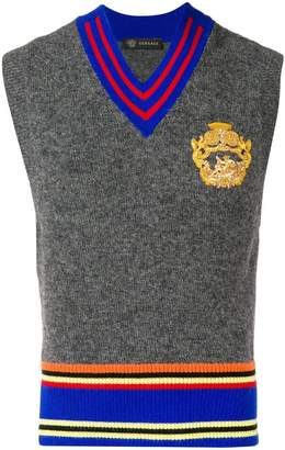 Versace embroidered sweater vest