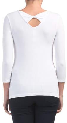 V-neck Twist Bar Back T-shirt