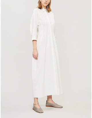 Jil Sander Pleated wool-blend shirt dress