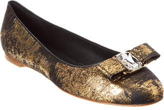 Salvatore Ferragamo Varina Fabric & Leather Ballet Flat