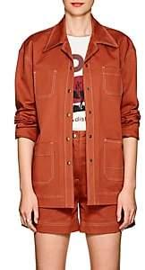 Land of Distraction Women's Jay Cotton Work Jacket-Rust