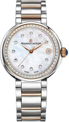 Maurice Lacroix Women's 'Fiaba' Swiss Quartz and Gold and Stainless Steel Casual Watch, Color:Two Tone (Model: FA1007-PVP23-170-1)