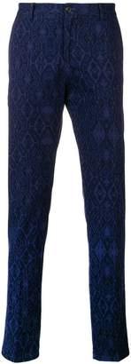 Etro Ikat-jacquard trousers